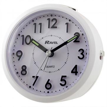 Round Quartz Sloped 3D Dial Alarm Clock