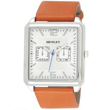 Henley Mens Rectangular Fashion Watch