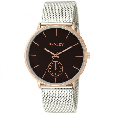Henley Mens Fashion Two-Tone Mesh Bracelet Watch