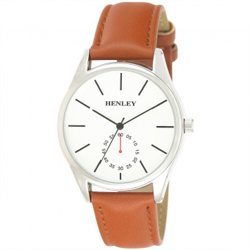 Henley Mens Minimal Faux Leather Fashion Watch