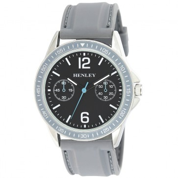 Henley Mens Fashion Silicon Strap Watch