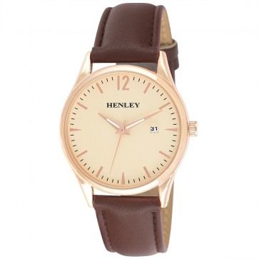 Henley Mens Minimal Calendar Watch