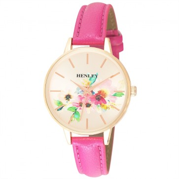 Henley Ladies Fashion Floral Print Watch