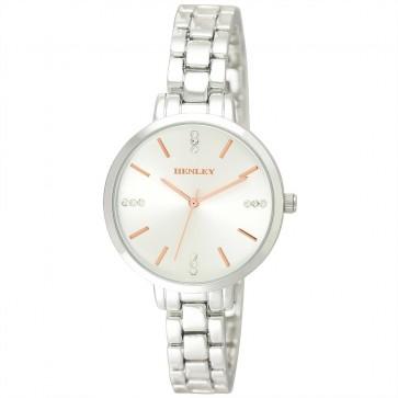 Women's Minimal Triple Diamante Index Bracelet Watch