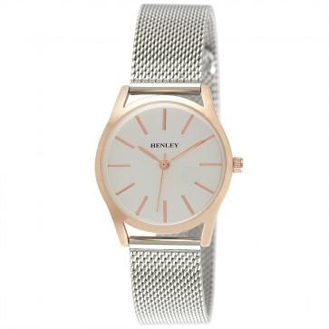 Henley Ladies Two-Tone Mesh Bracelet Watch