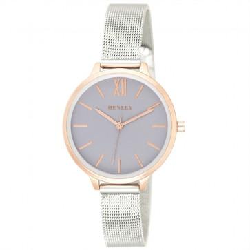 Women's Two-Tone Mesh Bracelet Watch