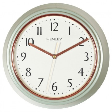 Modern Metal Porthole Wall Clock - Grey / Rose Gold