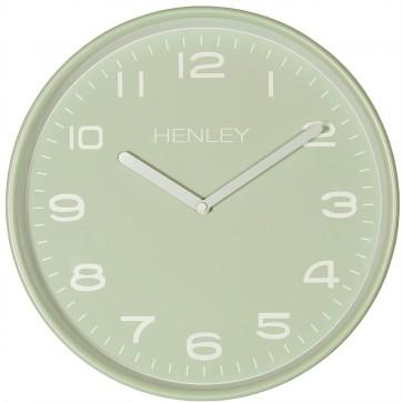 Modern Metal Pastille Wall Clock - Sage