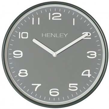 Modern Metal Pastel Wall Clock - Grey