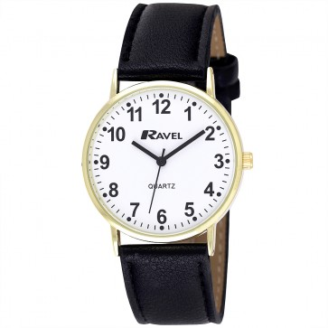 Men's Classic Arabic Dial Strap Watch