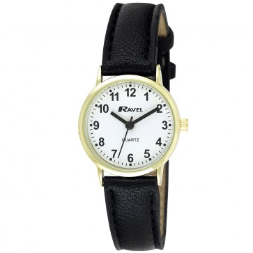 Women's Classic Arabic Dial Strap Watch