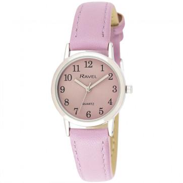 Women's Classic Easy Read Pastel Strap Watch - Purple