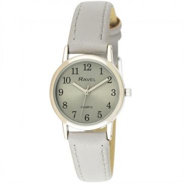 Women's Classic Easy Read Pastel Strap Watch - Grey