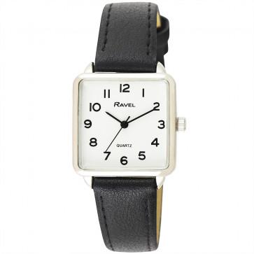 Women's Classic Rectangular Strap Watch - Black