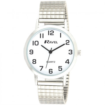Men's Classic Easy Read Expander Bracelet Watch