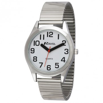 Men's Classic Super Bold Easy Read Expander Bracelet Watch