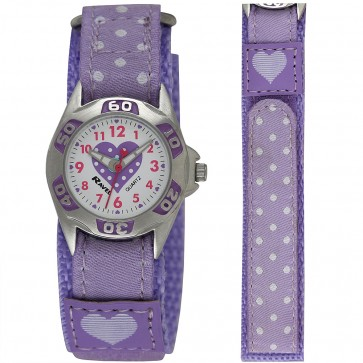 Girl's Velcro Polka Dot Watch