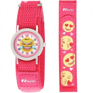 Unisex Velcro Emoji Watch