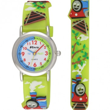 Girl's Cartoon Time Teacher Watch - Train