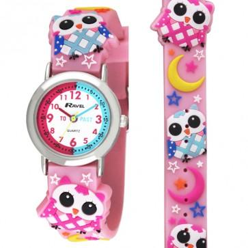 Ravel Girls 3D Owl Time Teacher Watch