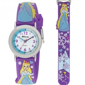 Girl's Cartoon Time Teacher Watch - Purple Princess
