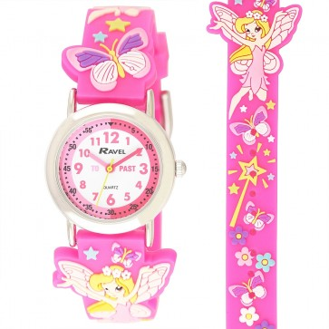Ravel Girls 3D Fairy Time Teacher Watch
