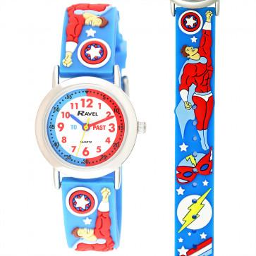 Kid's Cartoon Time-Teacher Watch - Superheroes