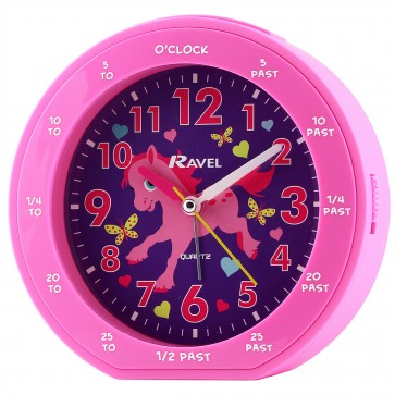 Girl's Teaching Time Clock - Pony (RC007 05C) by Timesource