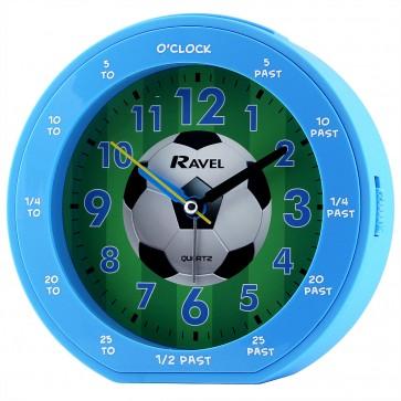Boy's Teaching Time Clock - Blue Football