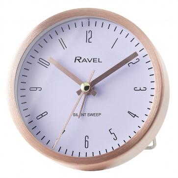 Quartz Metal Round Modern Number Alarm Clock