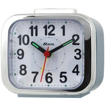Ravel Quartz Chrome Edged Alarm Clock