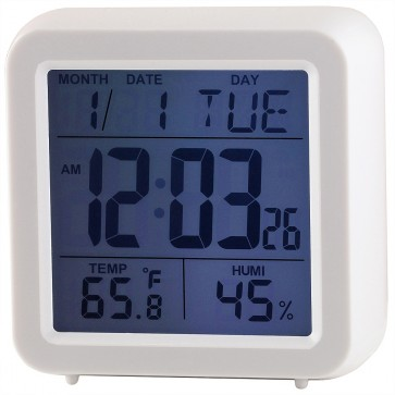 Ravel Quartz LCD Touch Alarm Clock