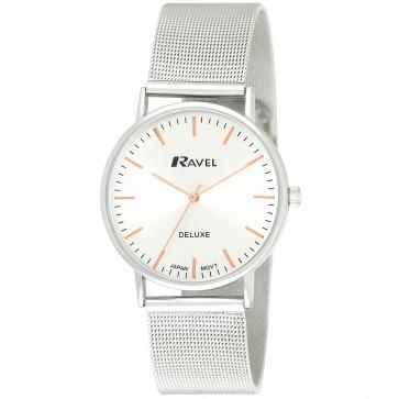 Deluxe Men's Mesh Bracelet Watch