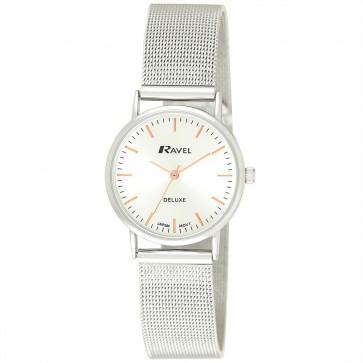Deluxe Women's Mesh Bracelet Watch