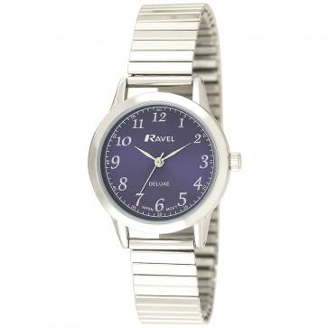Ravel Deluxe Ladies Classic Expander Bracelet Watch