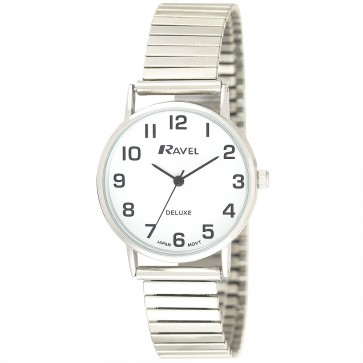 Ravel Deluxe Ladies Classic Expander Bracelet Watch