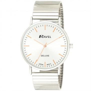 Deluxe Men's Modern Index Expander Bracelet Watch