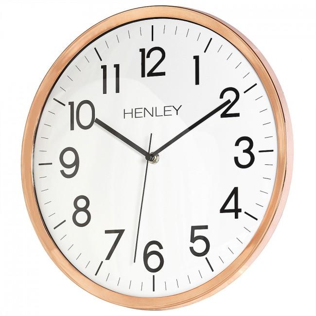 33cm Kitchen Wall Clock Copper