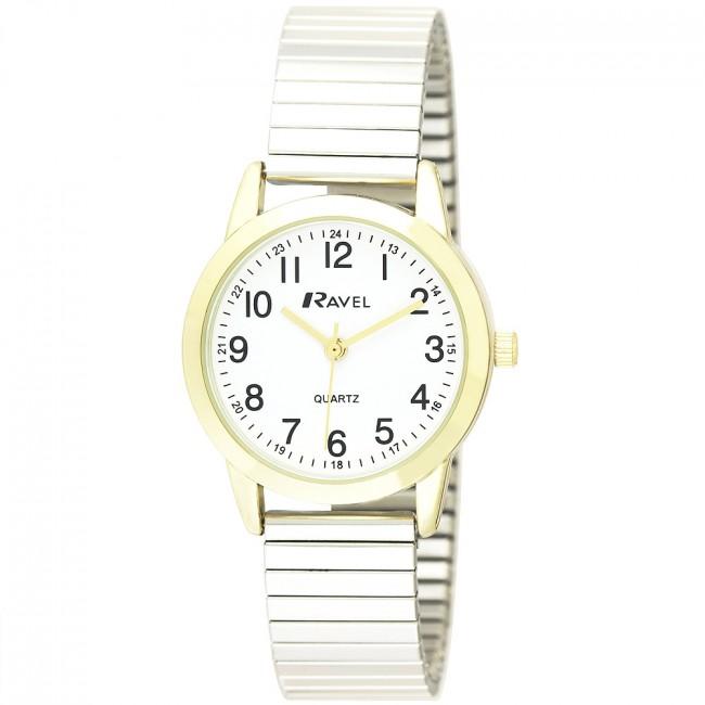 b8dc9ca6a8dd5 Ravel Ladies Classic Expander Bracelet Watch (R0232LC) by Timesource
