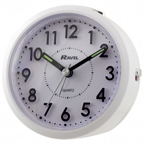 Round Quartz Sloped 3D Dial Alarm Clock