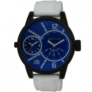 Henley Mens Fashion Dual Time Silicon Watch
