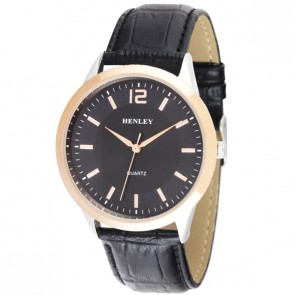Henley Mens Genuine Leather Fashion Watch