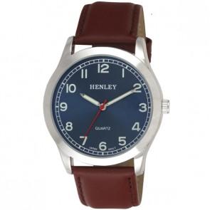 Henley Mens Genuine Leather Fashion Watch