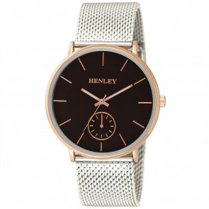 Henley Mens Fashion Two-Tone Mesh Bracelet Watch