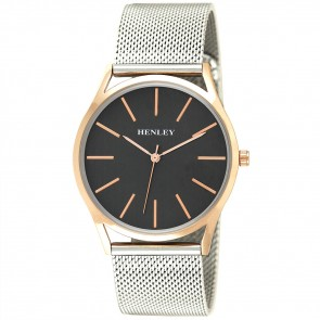 Henley Mens Two-Tone Mesh Bracelet Watch