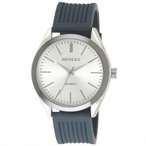 Henley Mens Fashion Striped Silicon Watch
