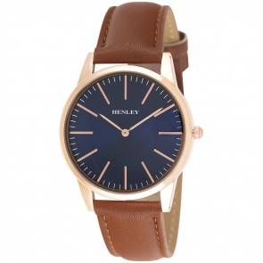 Henley Mens Slim Curved Lens Fashion Watch