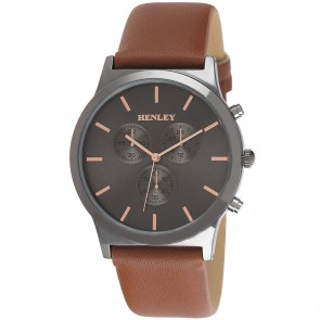 Henley Mens Faux Leather Fashion Watch
