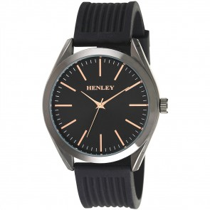 Henley Mens Striped Silicon Fashion Watch