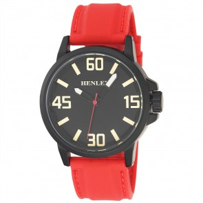 Men's 3D Dial Silicon Sports Watch